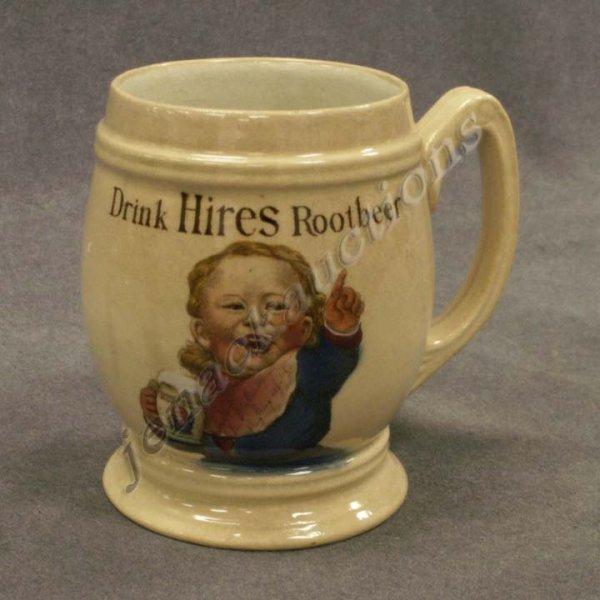 1014: VINTAGE METTLACH #3095 DRINK HIRES ROOTBEER MUG