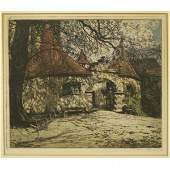 1084: HAND COLORED ETCHING, T.K. HOERNES