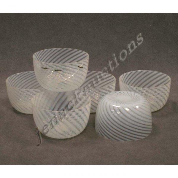 2009: VICTORIAN OPALESCENT BLOWN GLASS FINGER BOWLS