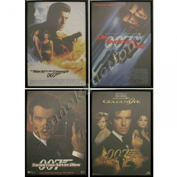 2019: LOT (4) ASSORTED JAMES BOND MOVIE POSTERS