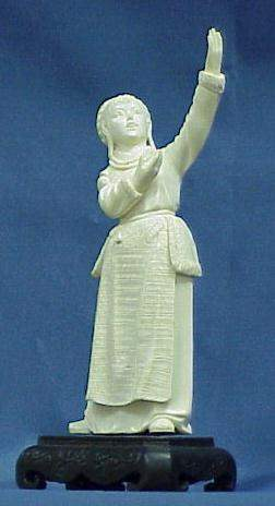 CHINESE CARVED IVORY, DANCING GIRL