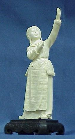 9: CHINESE CARVED IVORY, DANCING GIRL