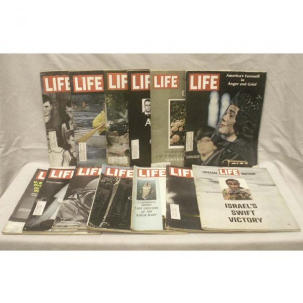 15: LOT (6) BOXES ASSORTED LIFE MAGAZINES 1967-68