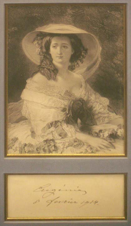 24: STEEL ENGRAVING/AUTOGRAPH CUT, PRINCESS EUGENIA
