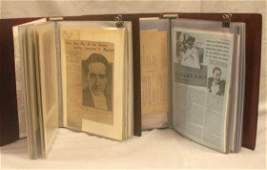 74: LOT (2) MAGICIAN'S SCRAPBOOKS INCLUDING DANTE