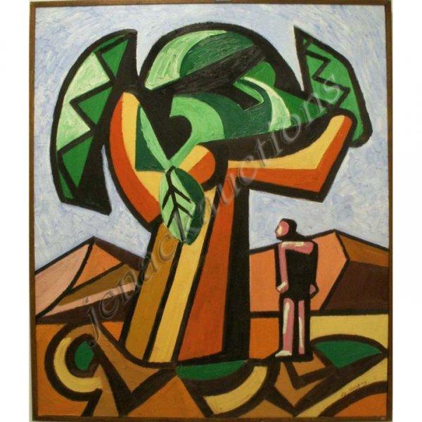 5: ALLY THOMPSON (SCOTTISH 1955-), OIL ON CANVAS