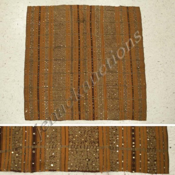 6: FINE INDONESIAN TAPIS PANEL WITH MICA SEQUINS