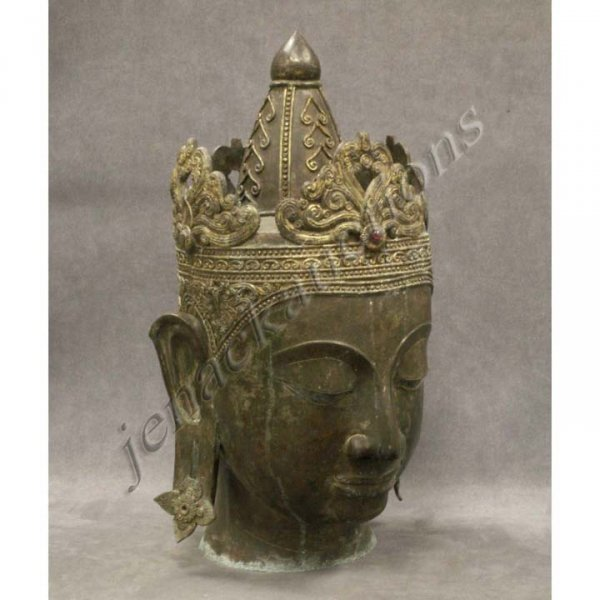 7: THAI BRONZE HEAD OF BUDDHA