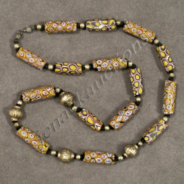 12: TRIBAL NECKLACE WITH VENETIAN TRADE BEADS