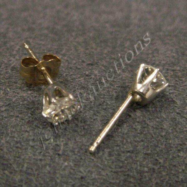 17: PAIR DIAMOND & WHITE & YELLOW GOLD EARRINGS