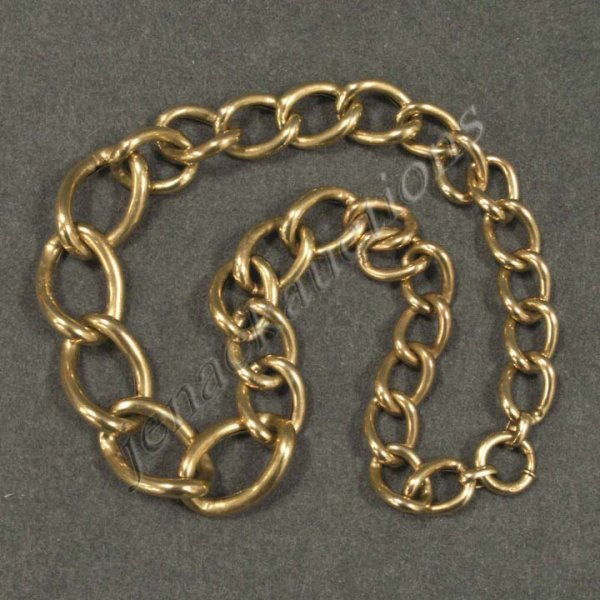 156: 14K HOLLOW GRADUATED CHAIN LINK NECKLACE