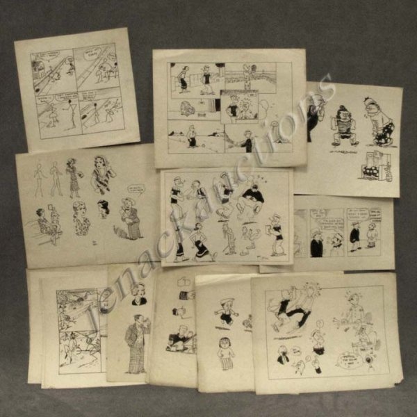 10: LOT (16) ASSORTED PEN AND INK CARTOONS