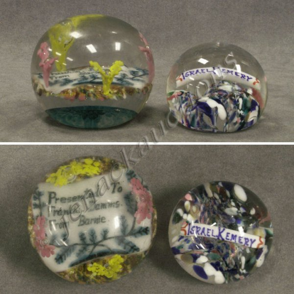 12: LOT (2) VINTAGE BLOWN GLASS PAPERWEIGHTS