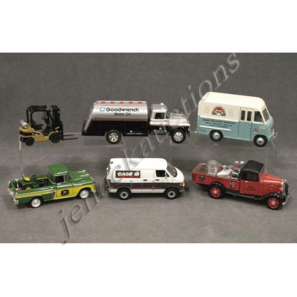 15: LOT (6) DIE CAST/STAMPED STEEL DELIVERY VEHICLES