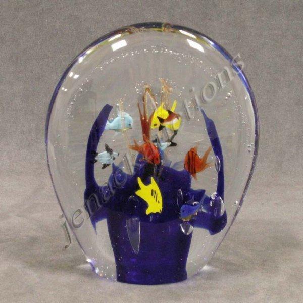 358: MURANO GLASS AQUARIUM PAPERWEIGHT