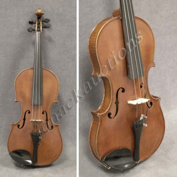 5: GERMAN COPY NICHOLAS AMATI VIOLIN WITH HARD CASE