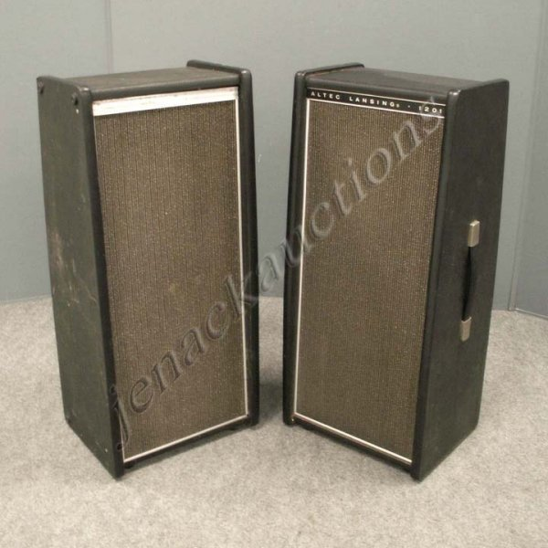 6: PAIR VINTAGE ALTEC LANSING COLUMN SPEAKERS