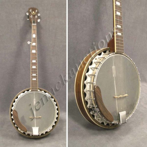 9: VINTAGE 5-STRING BANJO WITH INLAID RESONATOR