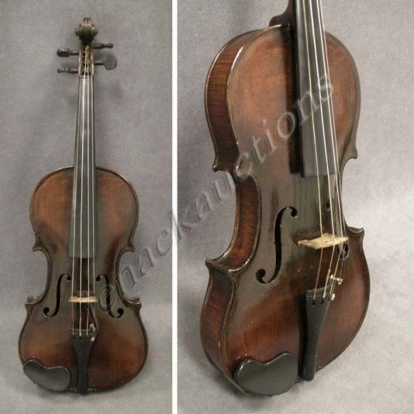 10: VINTAGE GERMAN VIOLIN WITH HARD CASE