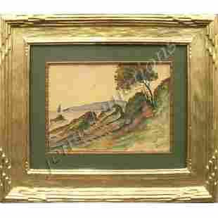 144: ANDRE DERAIN (FRENCH 1880-1954), WATERCOLOR, COAST