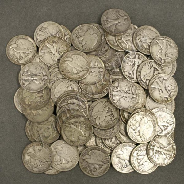 10: LOT (74) WALKING LIBERTY SILVER HALF DOLLAR COINS