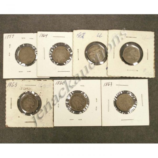 14: LOT (7) U.S. FLYING EAGLE/INDIAN HEAD CENT COINS