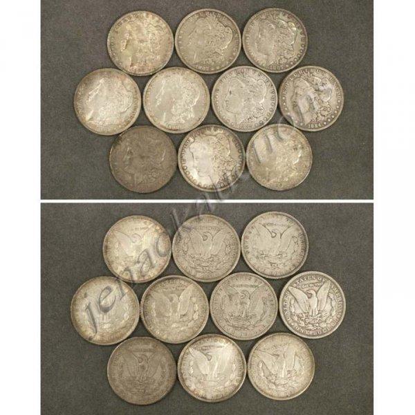 18: LOT (10) U. S. MORGAN SILVER DOLLAR COINS