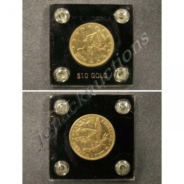 24: 1894 CORONET HEAD $10.00 GOLD COIN