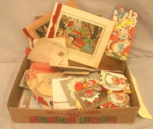 2: LOT ASSORTED VINTAGE HOLIDAY GREETING CARDS