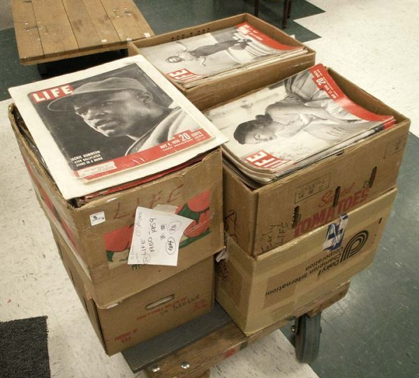 8: LOT (6) BOXES ASSORTED LIFE MAGAZINE