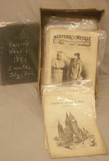 21: LOT HARPER'S WEEKLY INCLUDING (1) BOUND JULY-DEC
