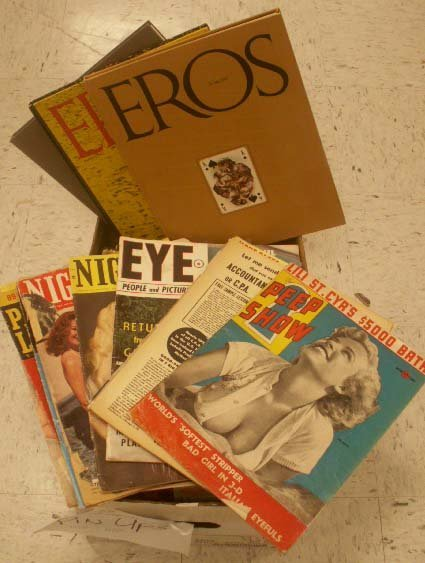 60: LOT ASSORTED ADULT MAGAZINES AND PIN-UPS, 1930-70'