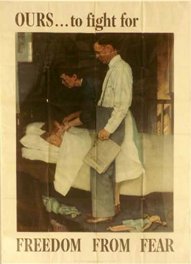 213: WWII LITHOGRAPHIC POSTER, ROCKWELL