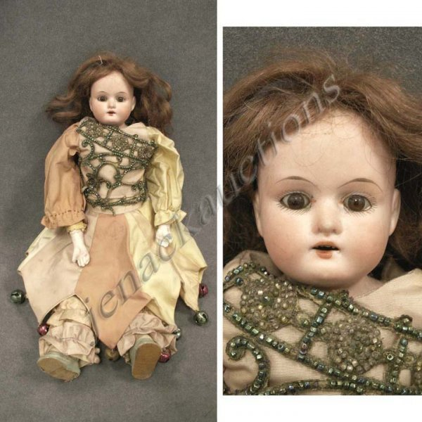 1: ARMAND MARSEILLE BISQUE SHOULDER HEAD DOLL
