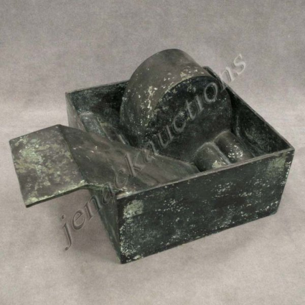 "5: BRONZE, ""MOON BOX"", SIGNED BERHANG"