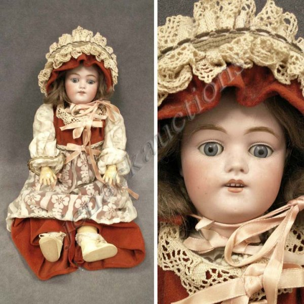 14: KESTNER BISQUE SOCKET HEAD DOLL, #168