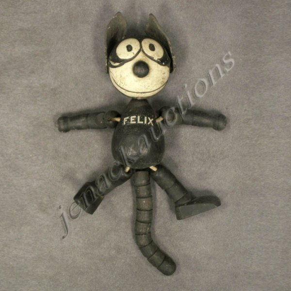 22: VINTAGE SCHOENHUT WOOD JOINTED FELIX THE CAT