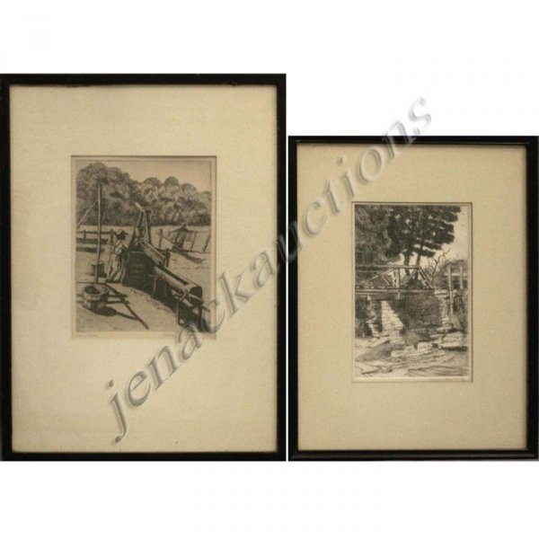4: HARRY HERING (AMERICAN 1887-1949), LOT (2) ETCHING