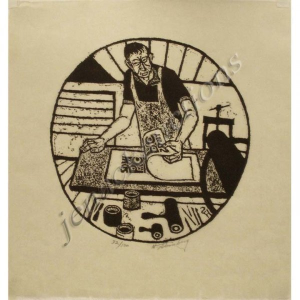23: HARRY STERNBERG (AMERICAN 1904-), WOOD CUT