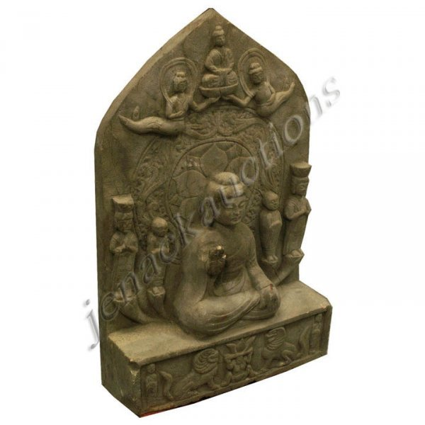 17: CHINESE CARVED GRAY STONE STELE
