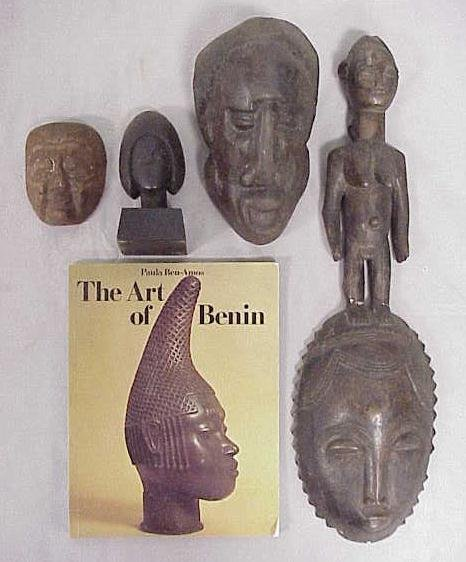 1: LOT CARVED/CAST AFRICAN/ASIAN MASKS/FIGURES