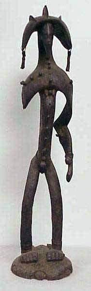 UNUSUAL SENUFO CARVED WARRIOR
