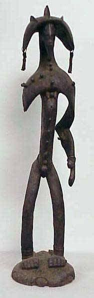 7: UNUSUAL SENUFO CARVED WARRIOR