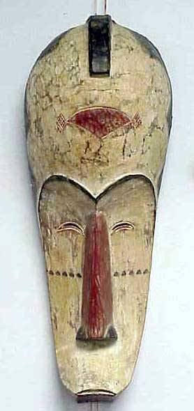 9: PANGWE CARVED/PAINTED MASK