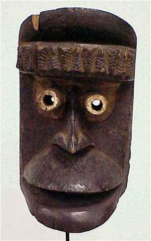FINE GUERE-OUOBE CARVED/PAINTED MASK
