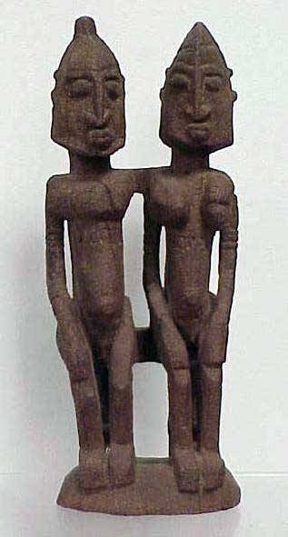 17: DOGON CARVED COUPLE, MALI