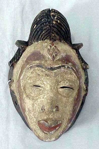 18: PUNU CARVED/PAINTED MASK