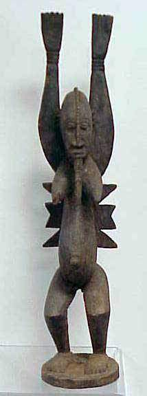 DOGON CARVED DANCING FEMALE