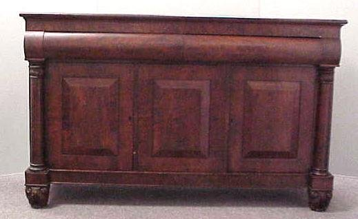 166: EMPIRE CARVED MAHOGANY SIDEBOARD