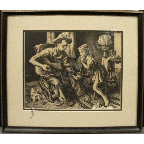 116: THOMAS HART BENTON (AMERICAN 1889-1975), LITHO